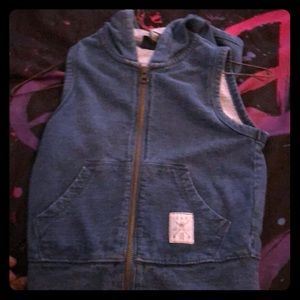 Other - Jean kids vest with hood
